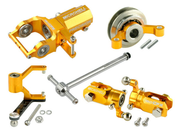 Microheli CNC Blade 180 CFX Tail Power package (GOLD)