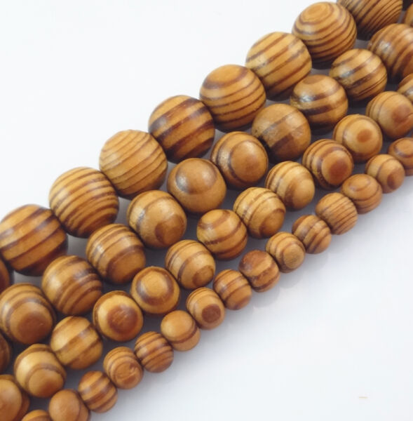 6,8,10,12,16mm Natural Wood Round Loose Spacer Beads Jewelry DIY Bracelet Crafts