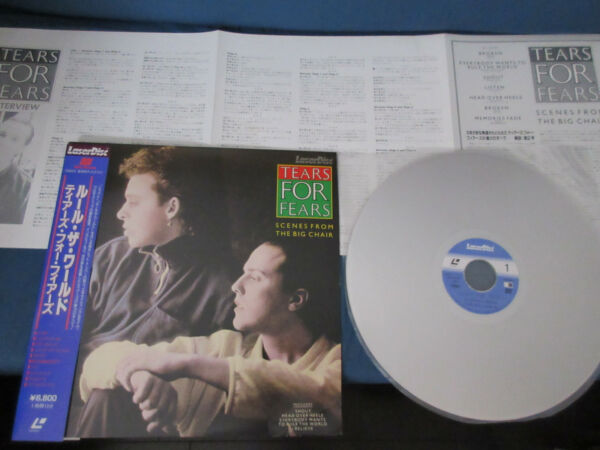 Tears for Fears Scenes from The Big Chair Japan Laserdisc with OBI Laser LD