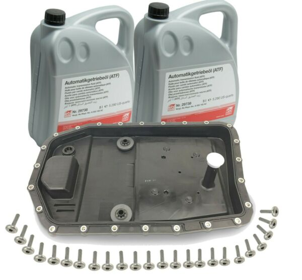 NEW OEM Automatic Transmission Filter Kit & Oil Pan with10-Liters Trani Fluid