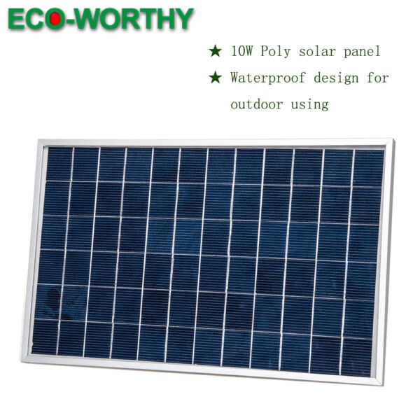 ECO 10Watt Portable 12V Solar Panel  for CARAVAN Boat Camping Battery Recharge