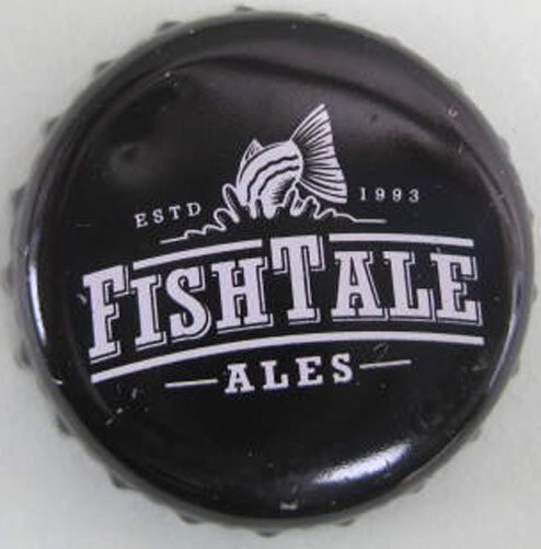 FISH TALE ALES black Beer CROWN Bottle CAP Fish Brewing Co Olympia WASHINGTON