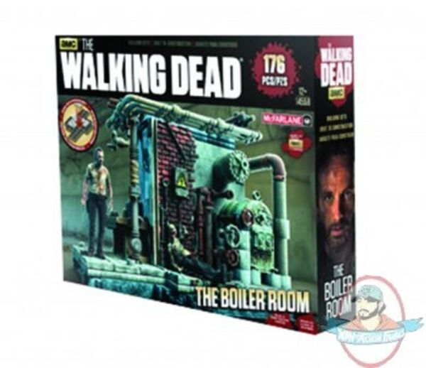 Walking Dead Tv Building Set Boiler Room Construction McFarlane
