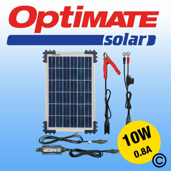 Optimate 10w Solar Panel Motorcycle Battery Charger Maintainer Fully Automatic GBP 95.99