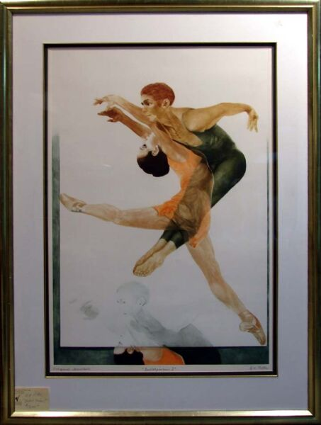 G.H Rothe Ballet Picture I Original Mezzotint Etching Signed Offers Welcome!