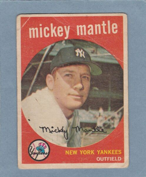 1959 TOPPS MICKEY MANTLE #10 NEW YORK YANKEES BLOWOUT SALE