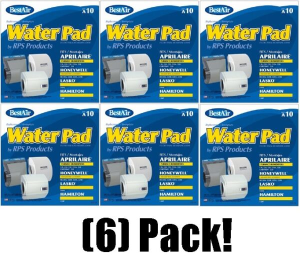 (6) ea Best Air RPS A10 Replacement Wicking Furnace Humidifier Pads  Filters