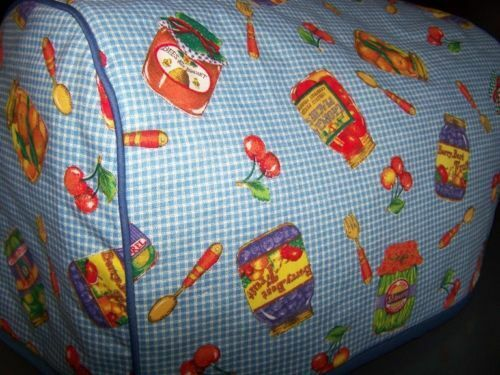 Pantry Canning Jars Quilted Fabric 2 Slice or 4 Slice Toaster Cover NEW
