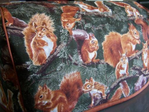 Squirrels WIldlife Quilted Fabric 2 Slice or 4 Slice Toaster Cover NEW