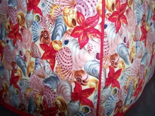 Beach Seashells Quilted Fabric 2 Slice or 4 Slice Toaster Cover NEW