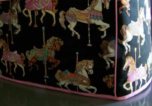 Carousel Horses Quilted Fabric 2 Slice or 4 Slice Toaster Cover NEW