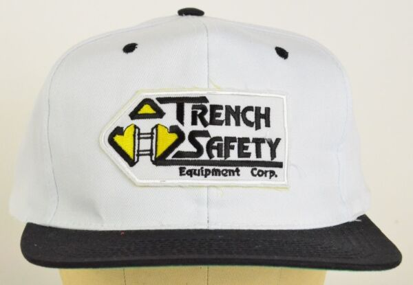 Trench Safety Equipment Corp embroidered patch Baseball Hat Cap adjustable