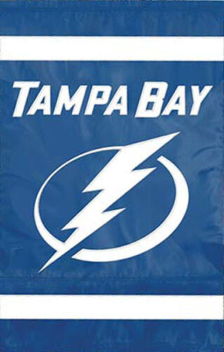 TAMPA BAY LIGHTNING Official NHL Team Nylon Applique Premium WALL BANNER