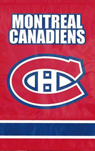 MONTREAL CANADIENS Official NHL Team Dynamic Applique Premium WALL BANNER