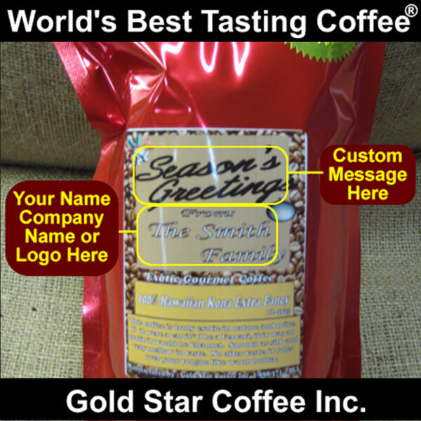Custom Labeled Coffee with your Company Logo 10lb - Hawaii Hawaiian Kona