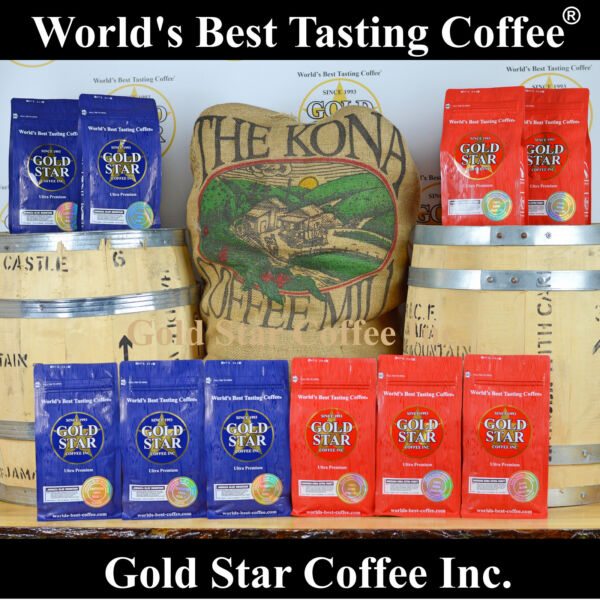 DARK ROAST Coffee Combo - 10 lb  5 Hawaii Kona Fancy + 5 Jamaica Blue Mountain