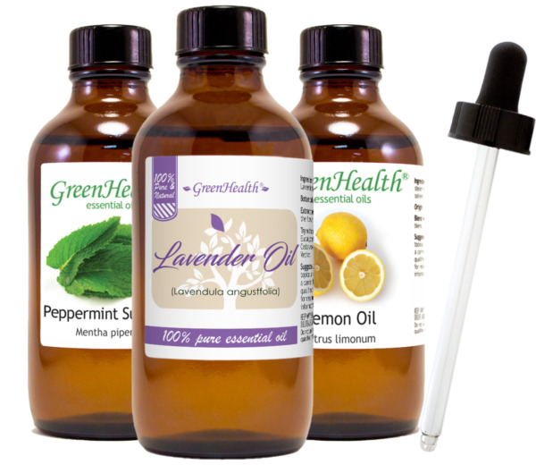 4 oz Essential Oil with Glass Dropper, Free Shipping, 50+ Oils to Choose from