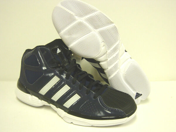 Mens Adidas Pro Model 0 G21007 Indigo Blue White Basketball Sneakers Shoes