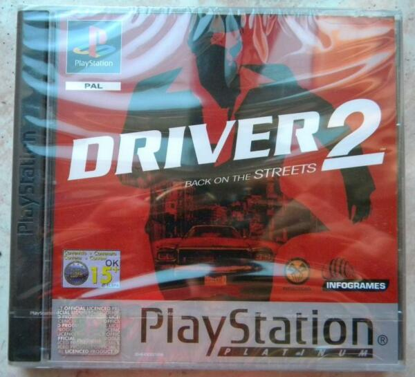 DRIVER 2 BACK ON THE STREETS PS1 PLAYSTATION ONE  PAL NUOVO ITALIANO