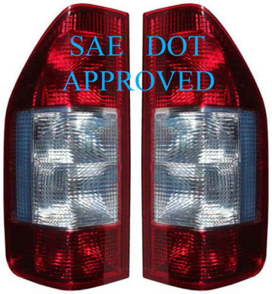 1995-2006 Dodge Mercedes Freightliner SPRINTER Tail Lights Lamps Pair Red+Clear