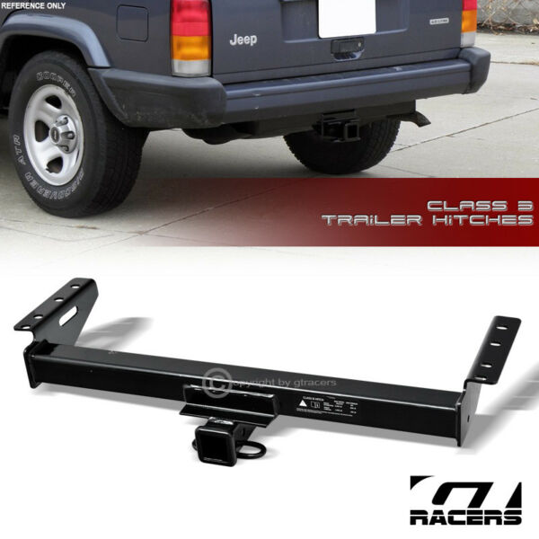 Class 3 Trailer Hitch Receiver Rear Bumper Towing 2quot; For 1984 2001 Jeep Cherokee $156.00