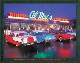 Vintage Replica Tin Metal Sign Antique Route 66 Al Mac dinner Chevy Classic 1129