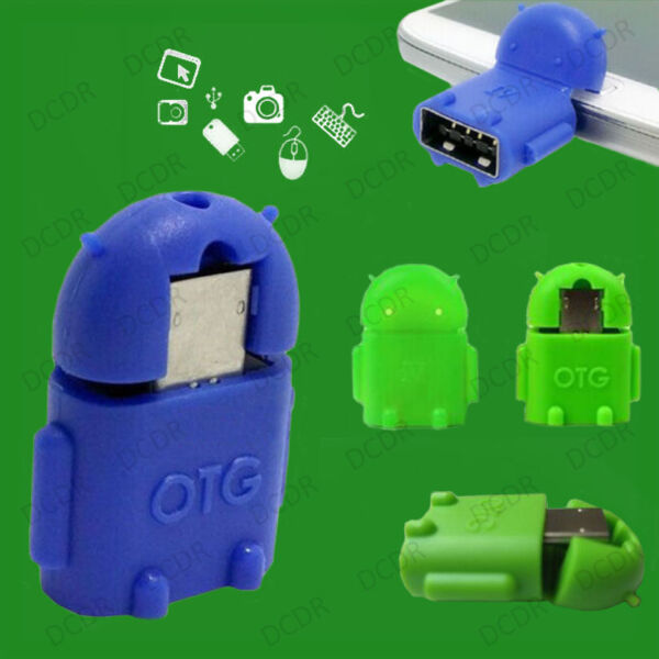 Roboter Micro USB auf 2.0 OTG Adapter Dongle Konverter Für Android Handy Tablet