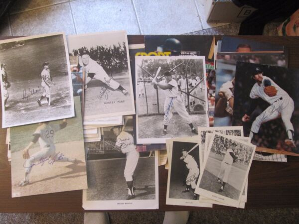HUGE NY Yankees SIGNED (AUTOGRAPHED) Photo Collection. Mantle Maris etc.
