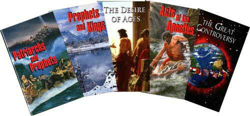 Conflict of the Ages Series Set by Ellen G. White ( AA DA PP PK GC 5books)