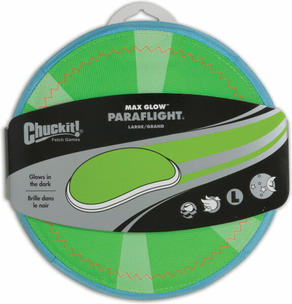 Chuckit! Max Glow Paraflight Green Large