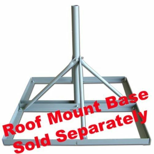 Antenna Mast For Non Penetrating Roof Mount Base 30 Inch Length 2.0 Inch O.D $29.99