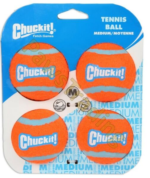 Chuckit Dog Puppy Tennis Ball Thick Bouncing Floating Toy Medium Standard Size $10.08