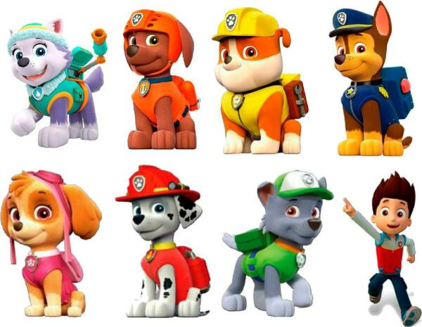 PAW PATROL 3D WALL STICKER SET decor ART KIDS DECAL Stickers 6