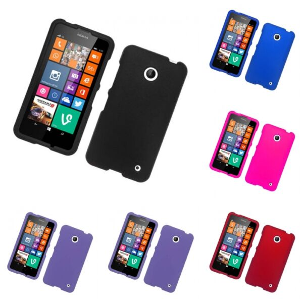 For Nokia Lumia 630 635 Hard Snap-On Rubberized Phone Skin Case Cover