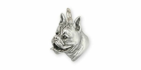 Boxer Charm Jewelry Sterling Silver Handmade Dog Charm BX6 C $94.99