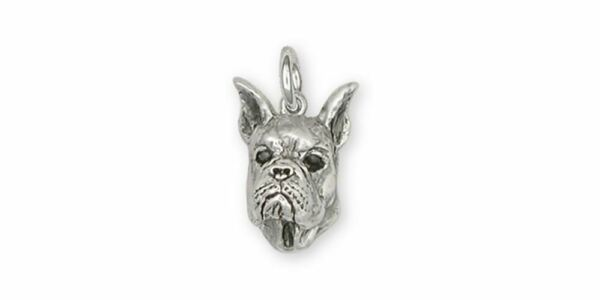 Boxer Charm Jewelry Sterling Silver Handmade Dog Charm BX5 C $84.99