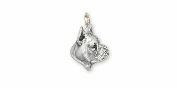 Boxer Charm Jewelry Sterling Silver Handmade Dog Charm BX4 C $94.99