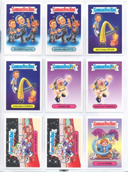Garbage Pail Kids The Not-Scars 2017 (18) Sticker Set Only 144 Sets Made RARE !