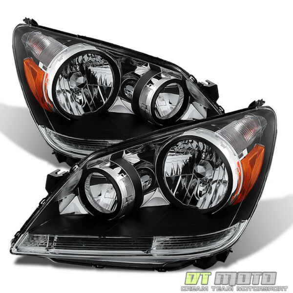 For 2005 2006 2007 Honda Odyssey Replacement Headlights Headlamps LeftRight