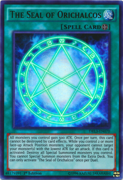 Yugioh The Seal of Orichalcos DRL3-EN070 1st Ultra Rare Near Mint Fast Shipping!
