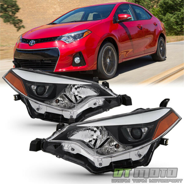 For 2014-2016 Toyota Corolla LED Headlights Headlamp Aftermarket Left+Right