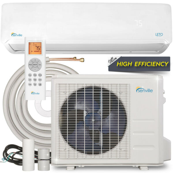 12000 BTU Mini Split Air Conditioner with Heat Pump Remote and Installation Kit $799.99