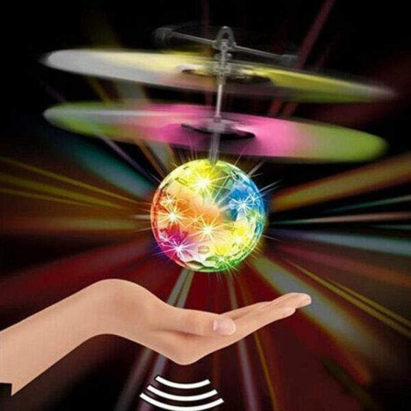 Magic Electric Flying Ball Helicopter LED Light Infrared Sensor Kids Toy Game