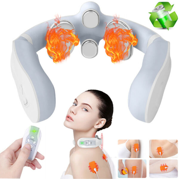Cordless Shiatsu Kneading Neck amp; Back RC Massager w Heat For Car Office Chair $36.99