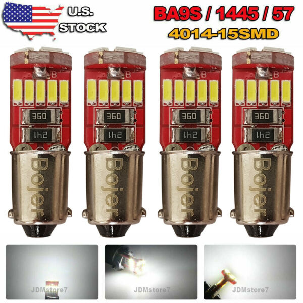 Bojer BA9S 53 57 64111 1895 LED Light Canbus Error free Bulb Car 12V White 4pcs