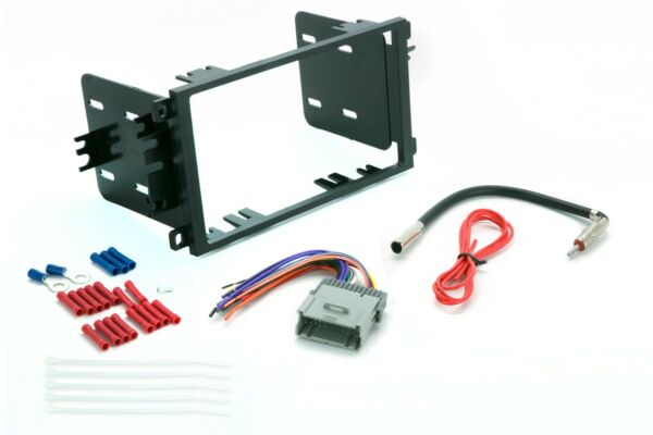 Double Din Dash Package Kit For Stereo Radio Install w Harness Antenna