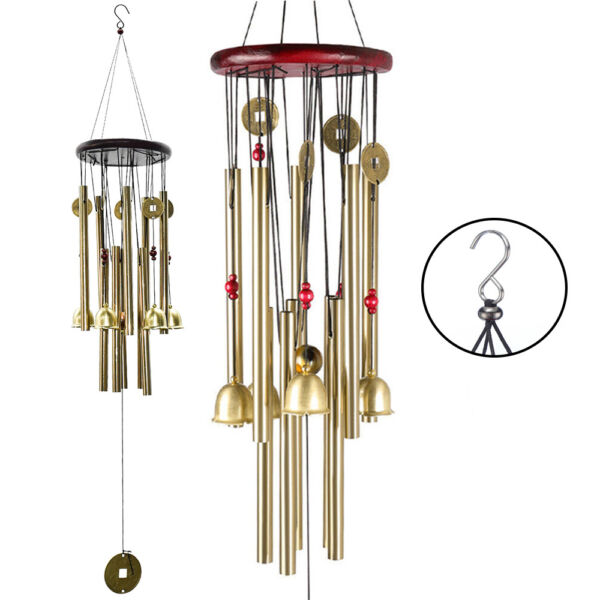 Large Wind Chimes 10 Tube 5 Bells Metal Church Bell Outdoor Garden Decor US $12.59