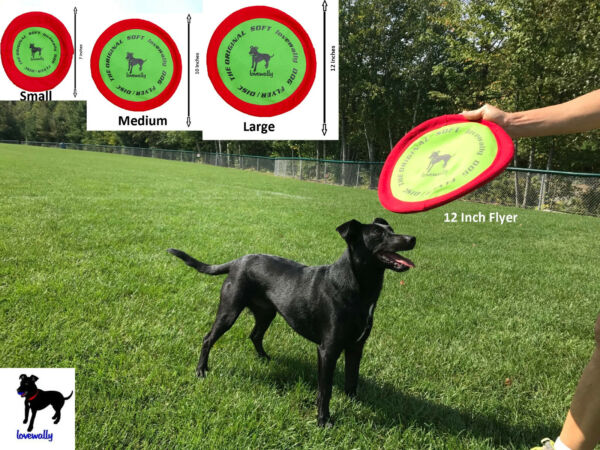Soft Bite Dog Toy Flyer Floppy Disc Gentle Fetch Frisbee Disc 7