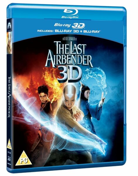 The Last Airbender 3D + 2D Blu-Ray BRAND NEW FREE SHIPPING