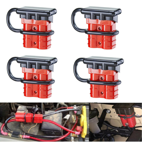 4x Battery Quick Connect/Disconnect Wire Harness Plug Connector Recovery 6 GAUGE
